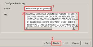 SDM IPS Wizard Public Key