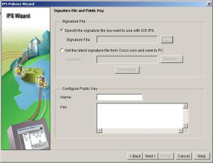 SDM IPS Wizard Signature Public Key