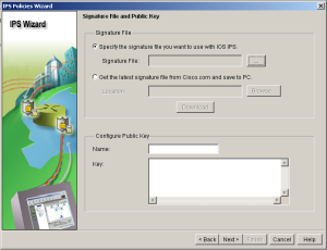 SDM IPS Wizard Signature Public Key