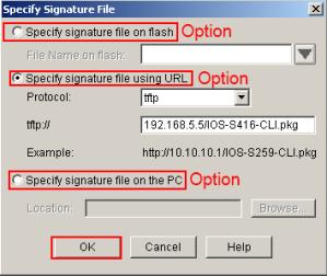 SDM IPS Wizard Signature File Location
