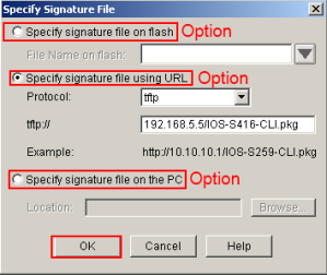 SDM IPS Wizard Signature File Location