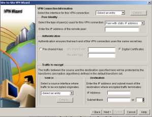 SDM VPN Wizard Connection