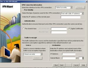 SDM VPN Wizard Connection
