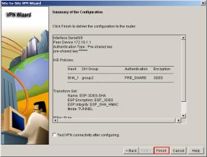 SDM VPN Summary