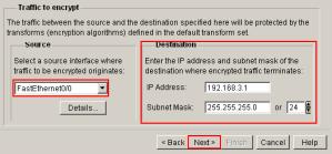 SDM VPN Wizard Traffic