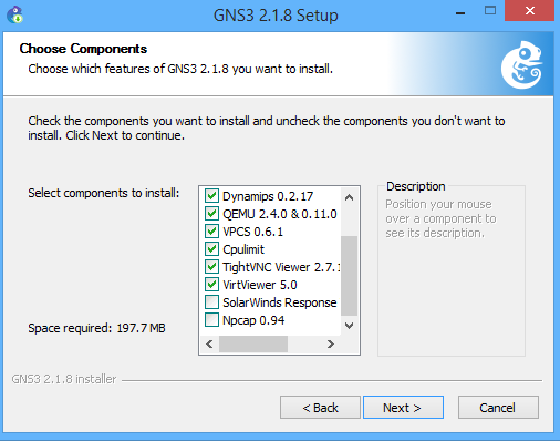 GNS3 Install